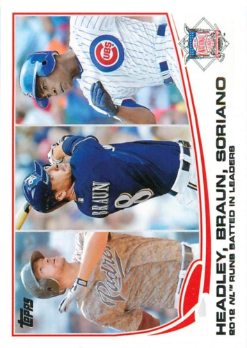 Photo of 2013 Topps #272 Ryan Braun/Alfonso Soriano/Chase Headley