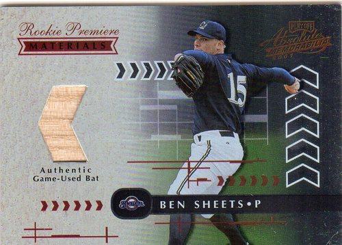 Photo of 2001 Absolute Memorabilia #161 Ben Sheets RPM