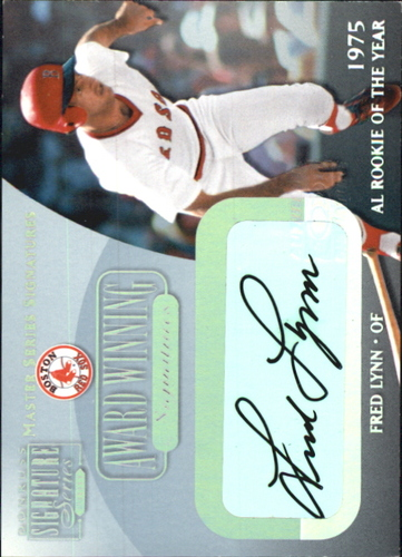 Photo of 2001 Donruss Signature Award Winning Signatures Masters Series #19 Fred Lynn ROY