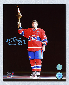 Brian Gionta Montreal Canadiens Autographed Torch Ceremony 8x10 Photo