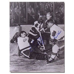 Gordie Howe and Bobby Hull Autographed 11x14 Photo