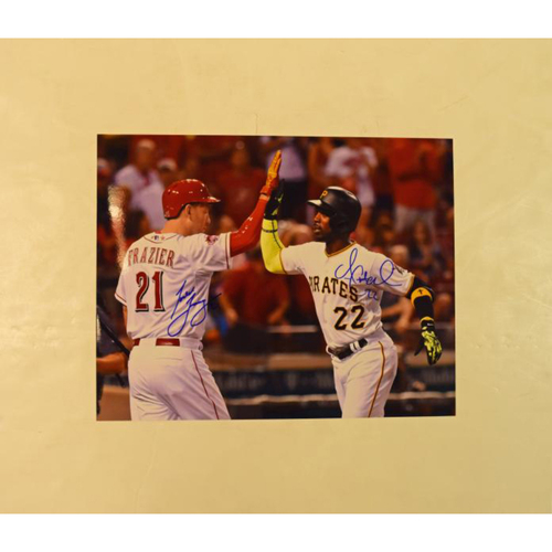 Photo of Andrew McCutchen and Todd Frazier Autographed All Star Game 11x14 Photo