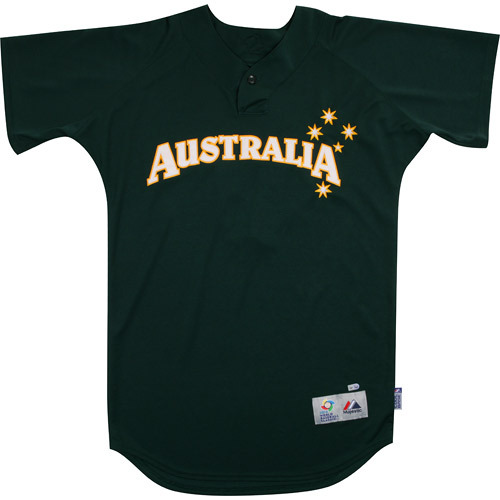 Photo of 2013 World Baseball Classic: Chris Snelling (Australia) #14 Game-Used  Batting Practice Jersey
