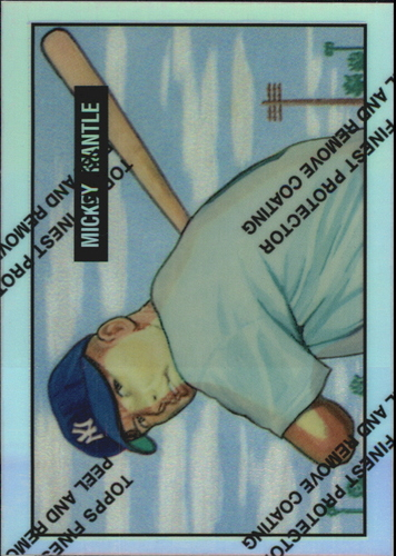 Photo of 1996 Topps Mantle Finest Refractors #1 Mickey Mantle 1951 Bowman