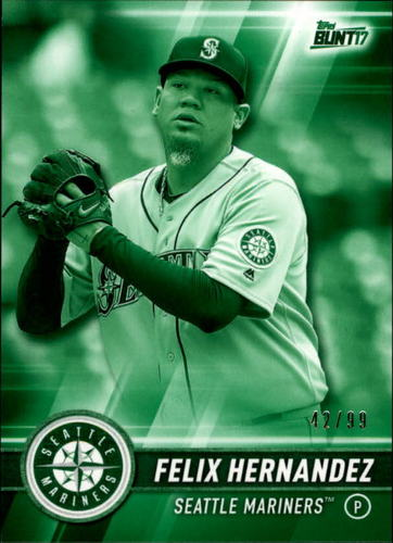 Photo of 2017 Topps Bunt Green #79 Felix Hernandez /99