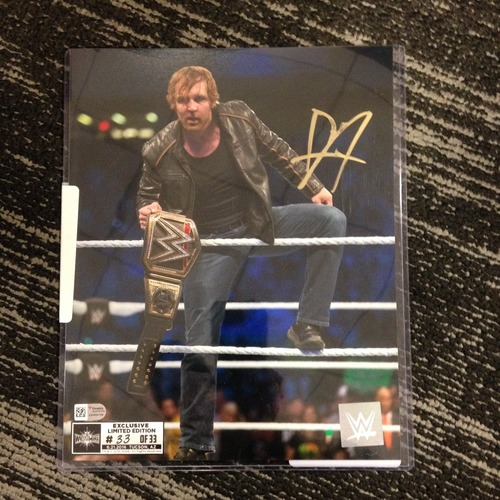 Dean Ambrose SIGNED 8 x 10 Limited Edition WrestleMania 33 Photo (#33 of 33)