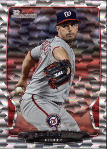 Photo of 2013 Bowman Silver Ice #38 Gio Gonzalez -- Nationals post-season