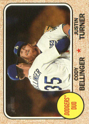 Photo of 2017 Topps Heritage Combo Cards #CC9 Justin Turner/Cody Bellinger
