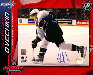 ALEXANDER OVECHKIN Signed Washington Capitals 16 X 20 Photo