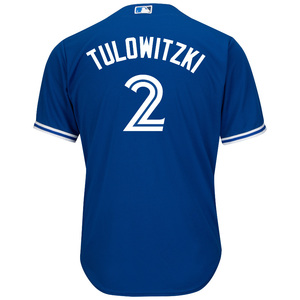 Toronto Blue Jays Cool Base Replica Troy Tulowitzki Alternate Jersey by Majestic