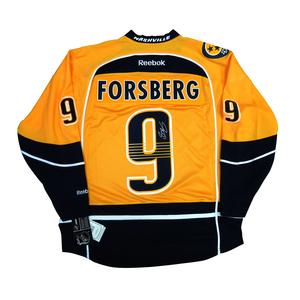 Filip Forsberg #9 PLAYER KITZ Signature Series Premier Replica Stitched Signature Nashville Predators Home Jersey