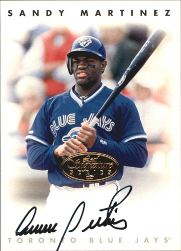 Photo of 1996 Leaf Signature Autographs Gold #147 Sandy Martinez