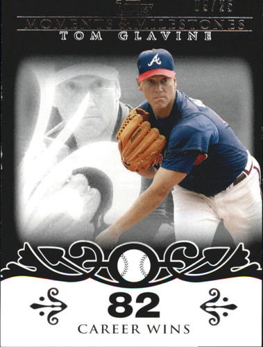 Photo of 2008 Topps Moments and Milestones Black #137-82 Tom Glavine