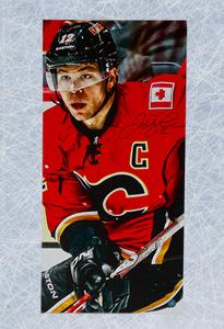 Jarome Iginla Calgary Flames Autographed 14x28 Art Canvas