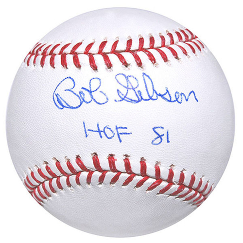 Cardinals Authentics: Bob Gibson HOF 81 Inscribed Autographed Baseball