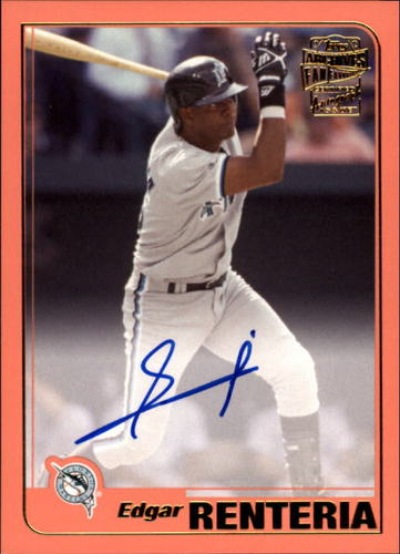 Photo of 2017 Topps Archives Fan Favorites Autographs Peach #FFAER Edgar Renteria AUTO
