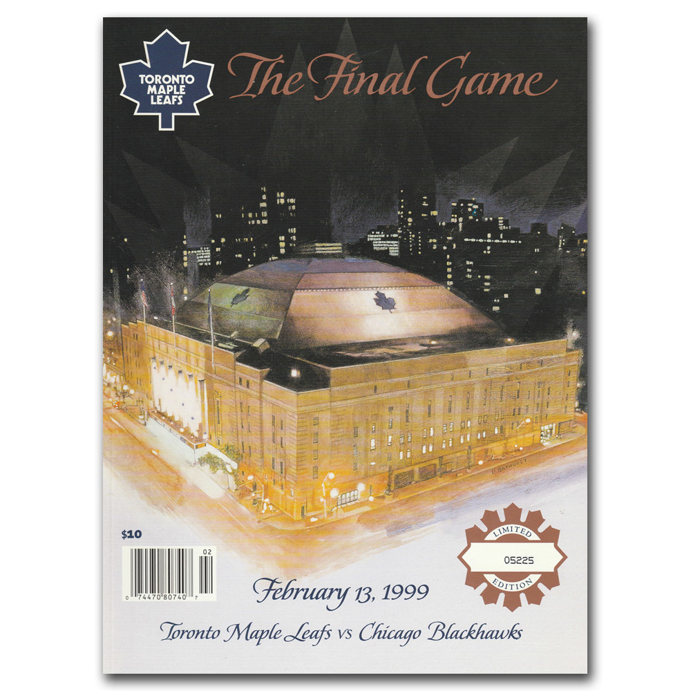 Maple Leaf Gardens Limited-Edition Final Game Program