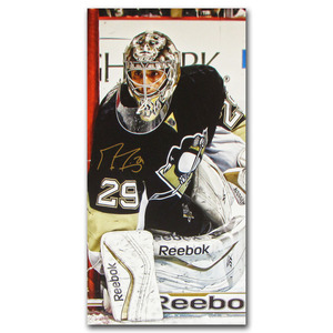 Marc-Andre Fleury Autographed Pittsburgh Penguins 14X28 Canvas