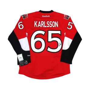 Erik Karlsson #65 PLAYER KITZ Signature Series Premier Replica Stitched Signature Ottawa Senators Home Jersey