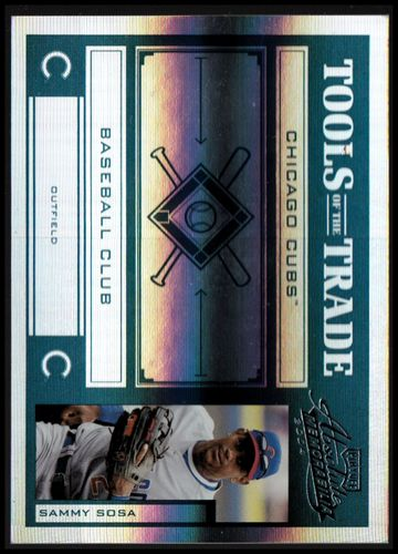 Photo of 2004 Absolute Memorabilia Tools of the Trade Green Spectrum #133 Sammy Sosa A