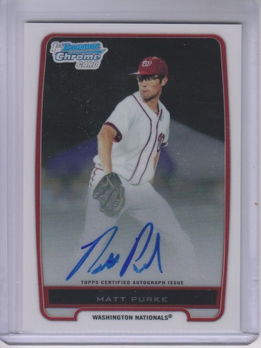 Photo of 2012 Bowman Chrome Prospect Autographs #BCP80 Matt Purke