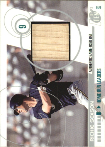 Photo of 2002 Topps Ten Relics #TTRRS Richie Sexson Bat B