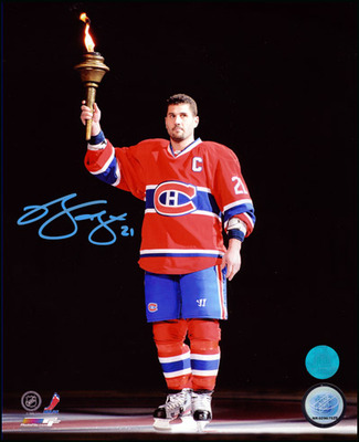 Brian Gionta Montreal Canadiens Autographed Torch Ceremony 11x14 Photo