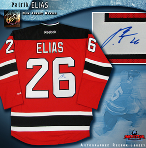 PATRIK ELIAS Signed RBK Premier Red New Jersey Devils Jersey