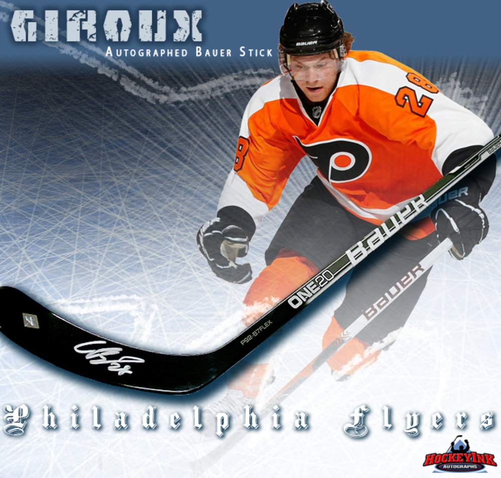 CLAUDE GIROUX Signed Bauer Model Composite Stick - Philadelphia Flyers