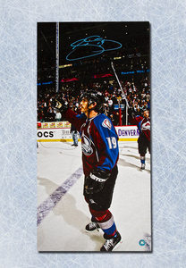Joe Sakic Colorado Avalanche Autographed Last Playoff Game 14x28 Art Canvas