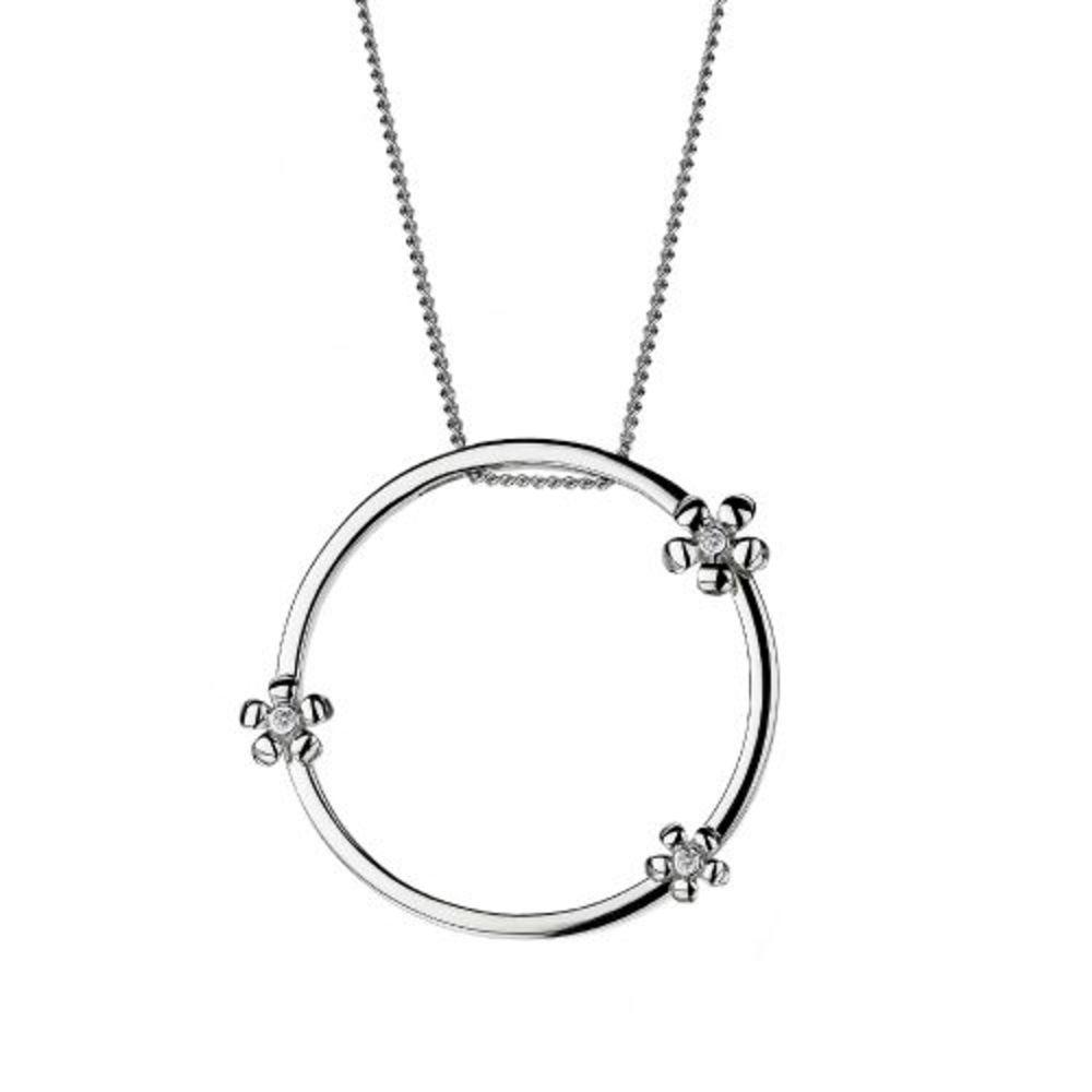 Hot Diamonds Paradise Silver Daisy Pendant with Signature Diamonds DP234