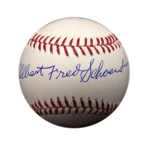 Cardinals Authentics: Albert Fred Schoendienst Autographed Baseball
