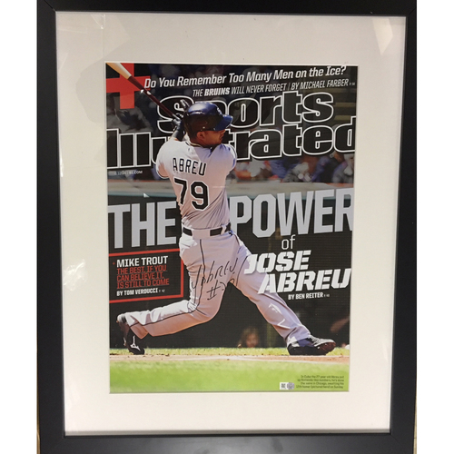 Photo of Jose Abreu Framed Autographed 2014 Sports Illustrated Cover Poster (Abreu Voted AL ROY)