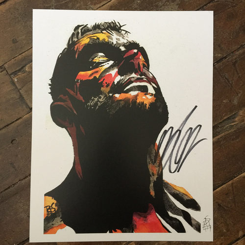 Finn Balor SIGNED 11 x 14 Rob Schamberger Print