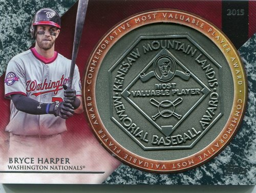 Photo of 2017 Topps Update MVP Award Relics #MVPRBH Bryce Harper