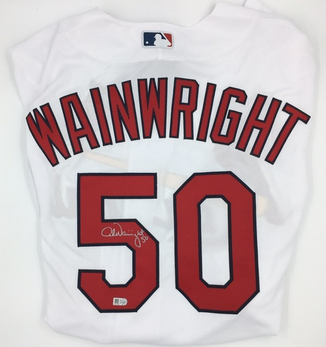 Photo of Adam Wainwright Authentic White Cardinals Home Jersey