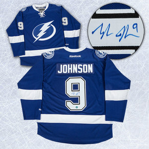 Tyler Johnson Tampa Bay Lightning Autographed Reebok Premier Jersey
