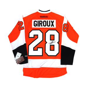 Claude Giroux #28 PLAYER KITZ Signature Series Premier Replica Stitched Signature Philadelphia Flyers Home Jersey