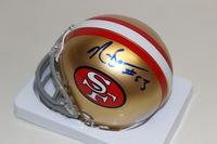 NFL - 49ERS NAVORRO BOWMAN SIGNED 49ERS MINI HELMET