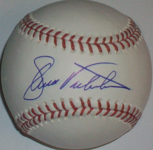 Photo of Ellis Valentine Autographed Baseball