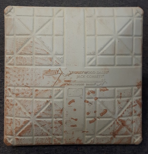 Photo of Authenticated Game Used Base - 3rd Base for Innings 7-9: Josh Donaldson's 3 HR Game on Canada Baseball Day (Aug 28, 2016 vs MIN)