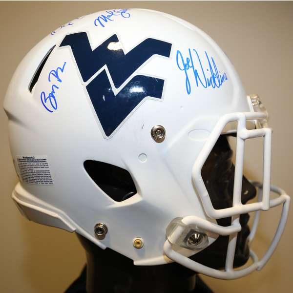 West Virginia Autographed Full-Size Football Helmet