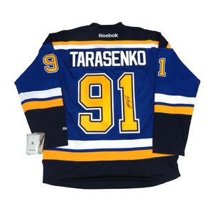 Vladimir Tarasenko #91 PLAYER KITZ Signature Series Premier Replica Stitched Signature St. Louis Blues Home Jersey
