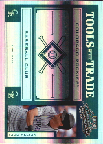 Photo of 2004 Absolute Memorabilia Tools of the Trade Green Spectrum #140 Todd Helton A