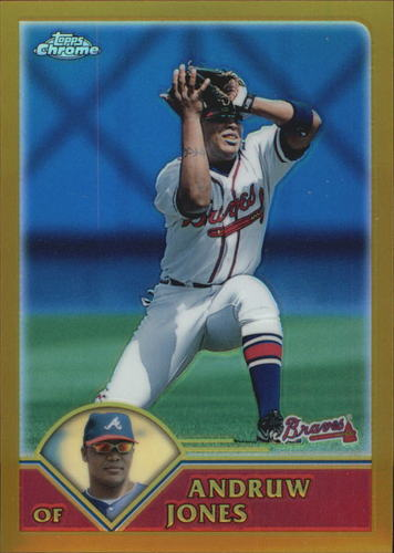 Photo of 2003 Topps Chrome Gold Refractors #4 Andruw Jones