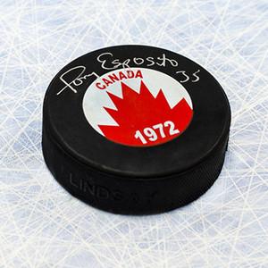 Tony Esposito Team Canada Autographed 1972 Summit Series Hockey Puck