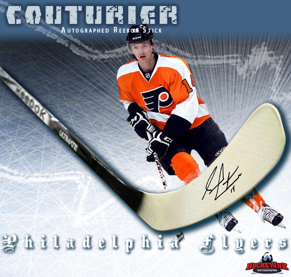 SEAN COUTURIER Signed Reebok Stick - Philadelphia Flyers