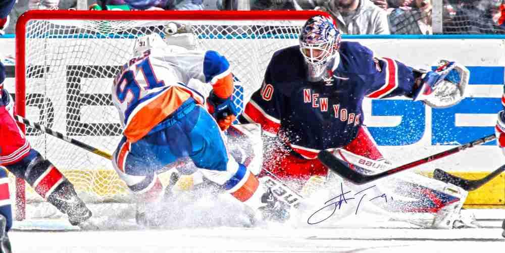John Tavares Autographed 14x28 Canvas Islanders vs Rangers