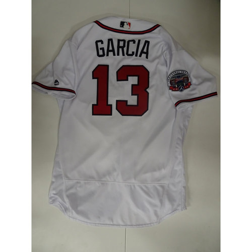 Photo of Adonis Garcia Game-Used Jersey Worn on Opening Day at SunTrust Park - April 14, 2017