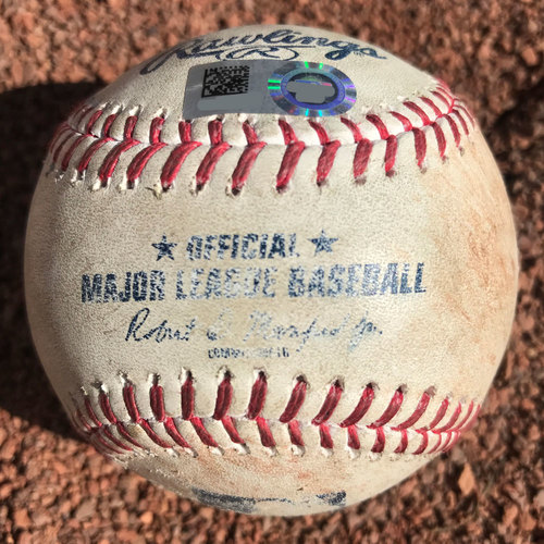 Photo of San Francisco Giants - 2017 Game-Used Baseball - Brandon Belt Double